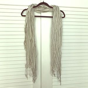 Black and White Striped Scarf